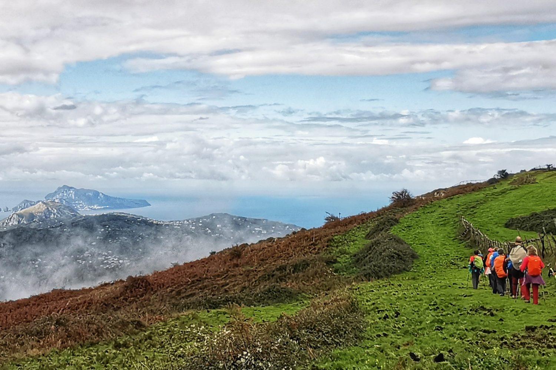 Panorama mozzafiato nel nostro trekking in Penisola Sorrentina