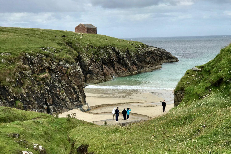 Una delle meravigliose spiagge nel nostro viaggio in Scozia