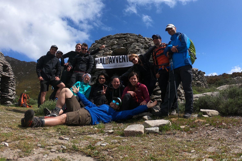 Foto del gruppo Maldavventura all'isola d'Elba agli antichi caprili della valle dell'inferno