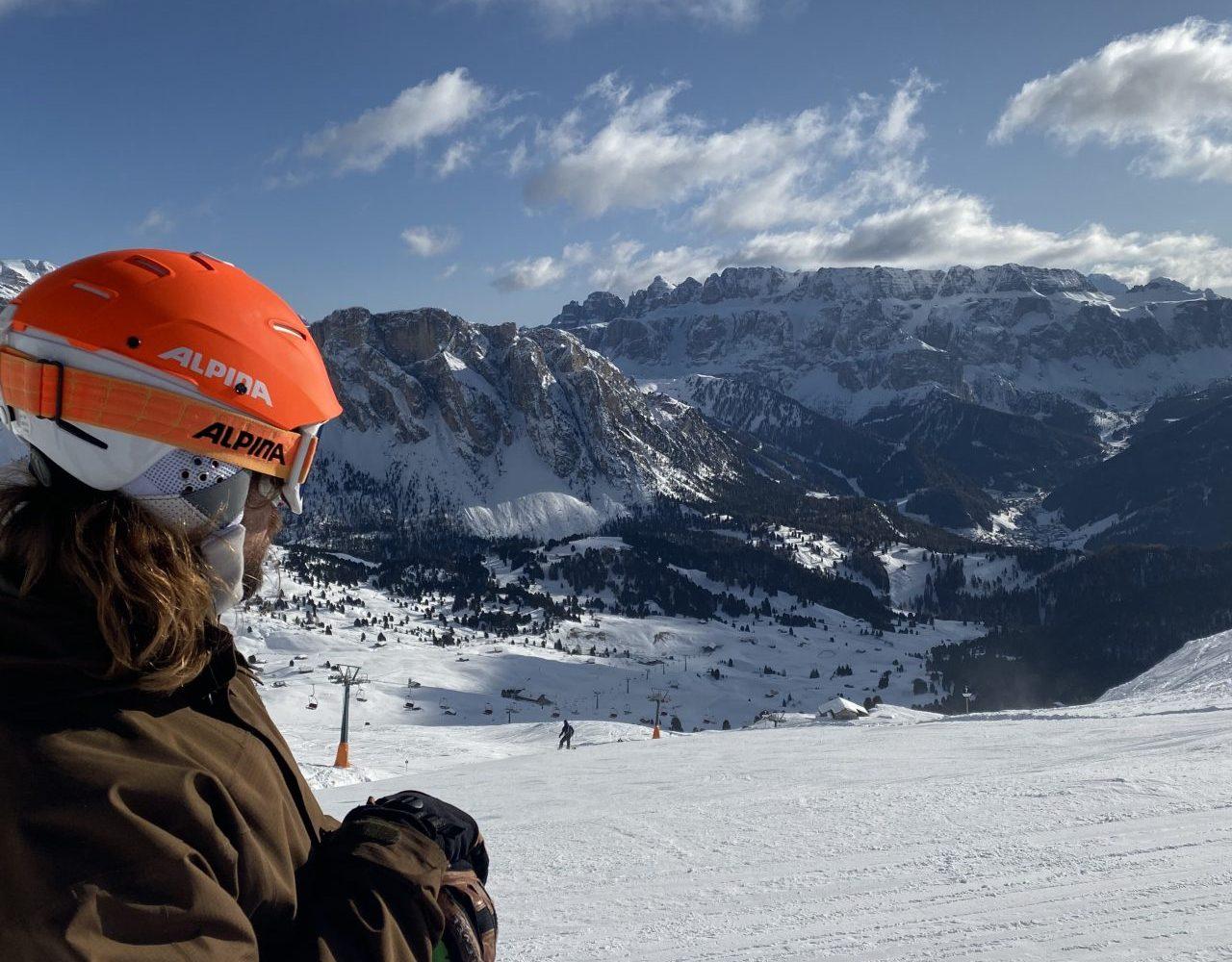 Il panorama della Val Gardena durante il nostro ski safari